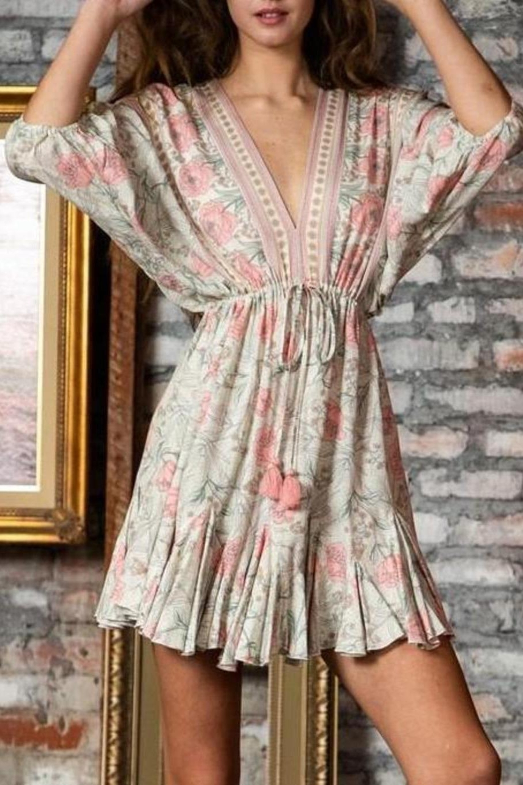 ShopGoldies Floral Bohemian Dress - Side Cropped Image