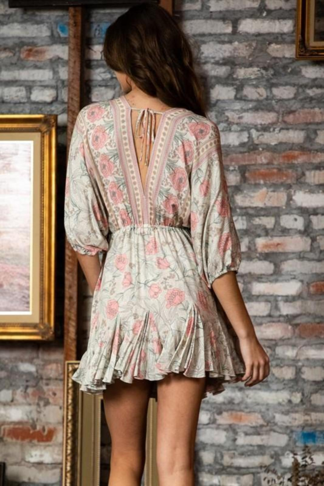 ShopGoldies Floral Bohemian Dress - Front Full Image