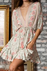 ShopGoldies Floral Bohemian Dress - Product Mini Image