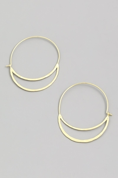 ShopGoldies Half Moon Earrings - Alternate List Image