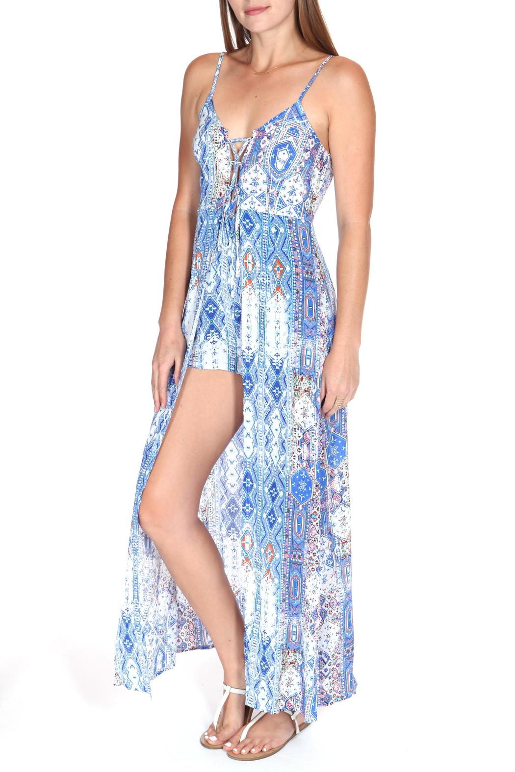 8e2e8cc2bf1 ShopGoldies Lace-Up Maxi Romper from Los Angeles by Goldie s ...