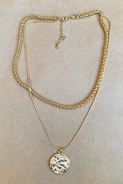 ShopGoldies Layered Golden Necklace - Alternate List Image