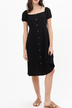 ShopGoldies Linen Button-Front Dress - Product List Image