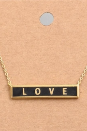ShopGoldies Love! Bar Necklace - Product Mini Image