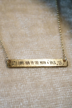 ShopGoldies Love Quote Necklace - Alternate List Image