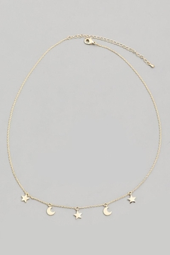 ShopGoldies Moon-Star Necklace - Alternate List Image