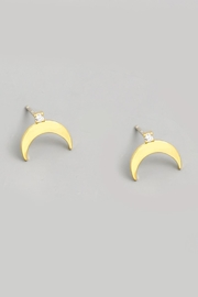 ShopGoldies Moon Stud Earrings - Product Mini Image