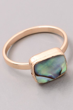 ShopGoldies Natural Abalone Ring - Alternate List Image