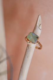 ShopGoldies Natural Abalone Ring - Product Mini Image