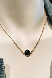 ShopGoldies Onyx Pendant Necklace - Front cropped