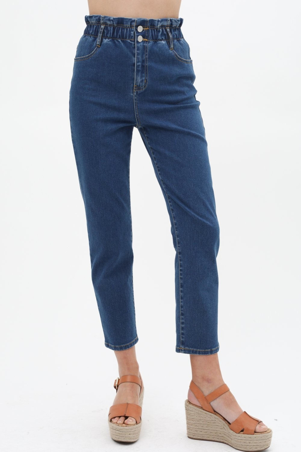 ShopGoldies Paper Bag Jeans - Side Cropped Image