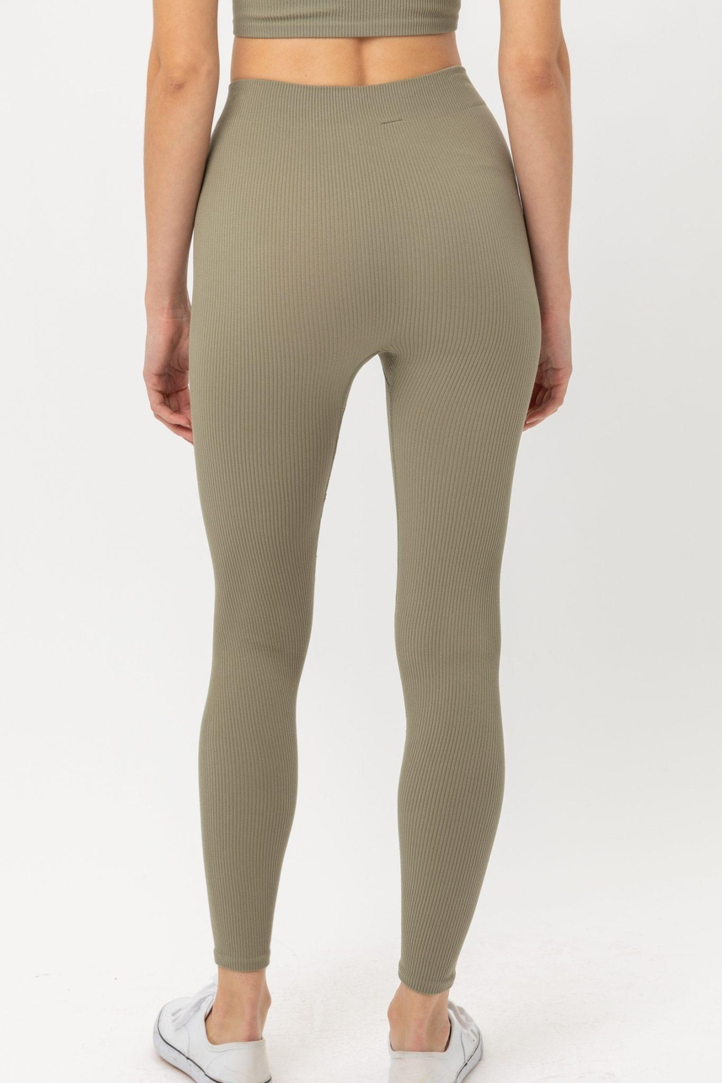ShopGoldies Ribbed Legging - Front Full Image