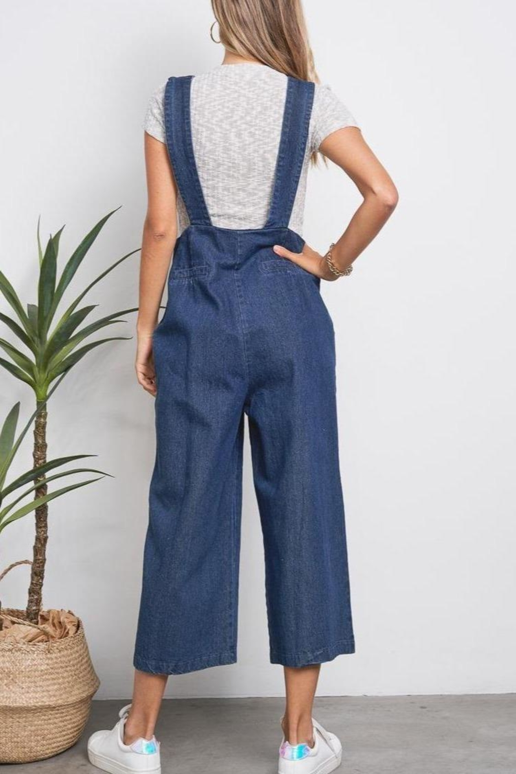 ShopGoldies Slouchy Denim Overalls - Front Full Image