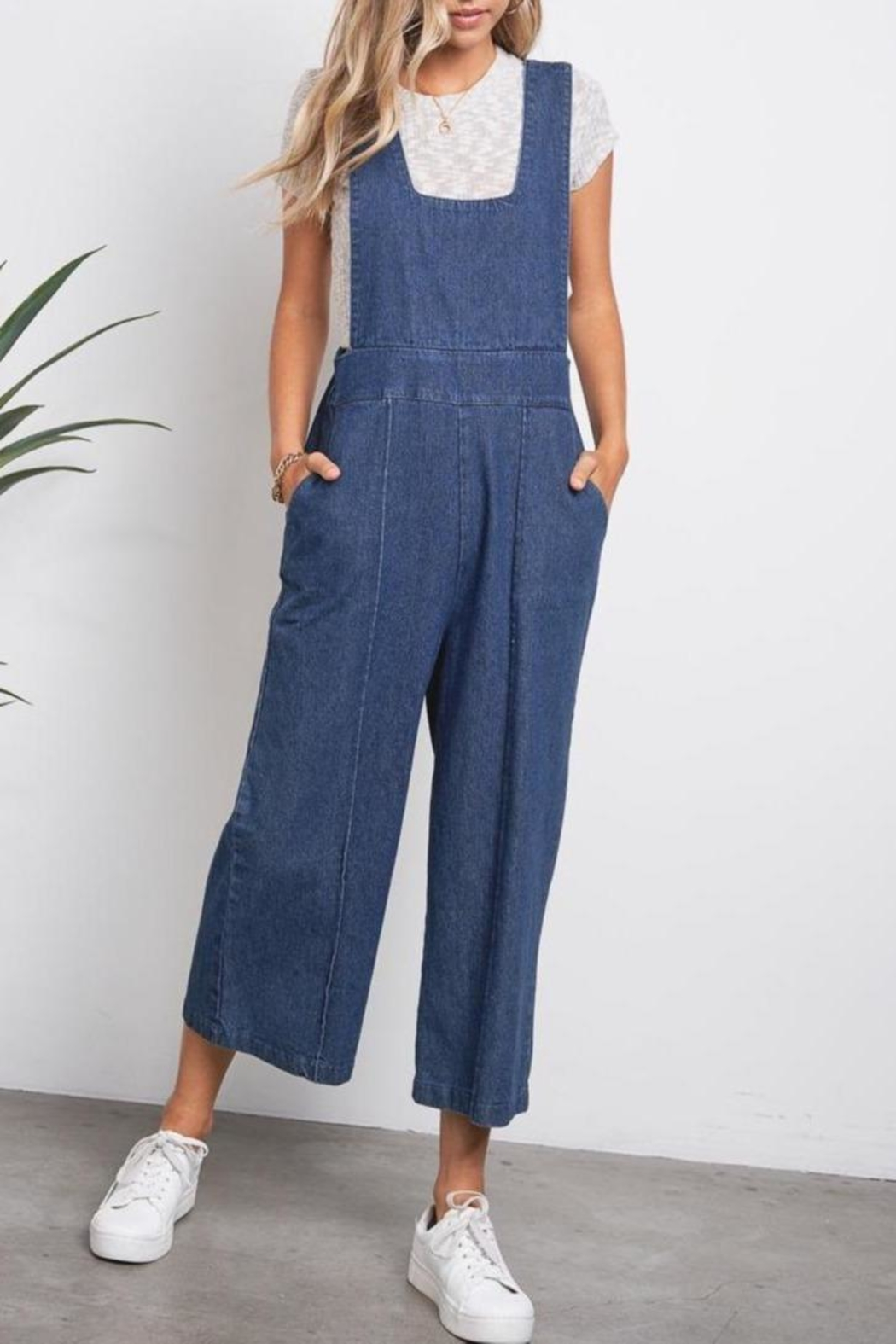 ShopGoldies Slouchy Denim Overalls - Main Image