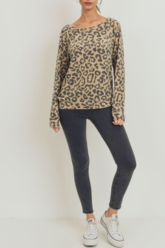 ShopGoldies Soft Leopard Pullover - Product List Image