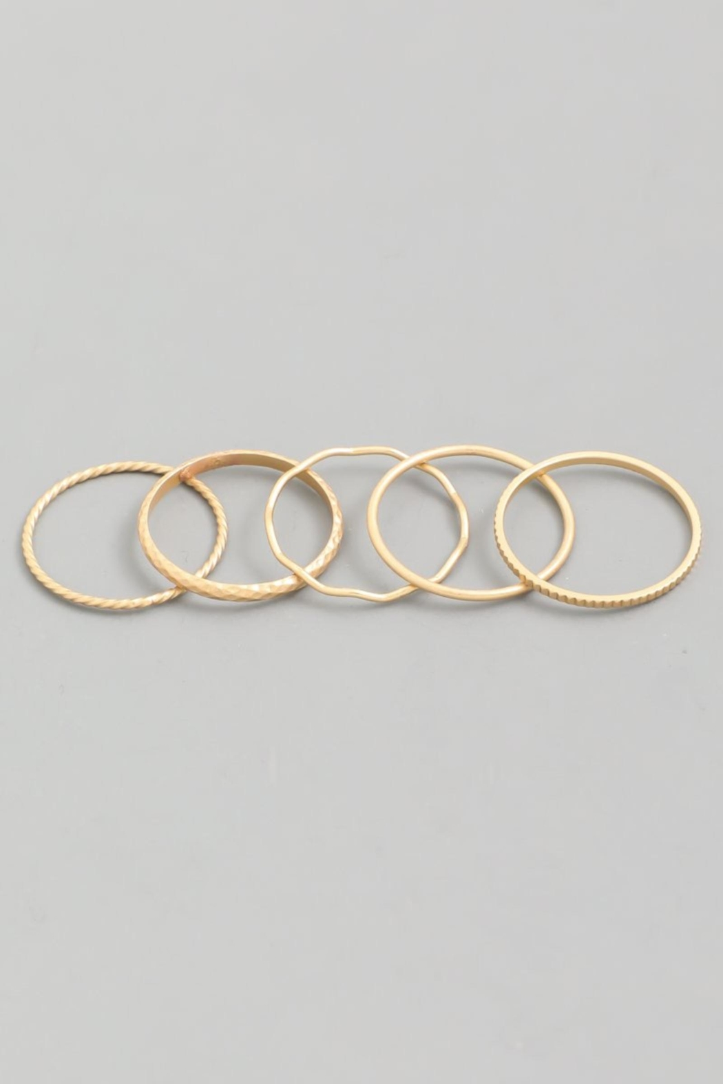 ShopGoldies Stackable Ring Set - Front Cropped Image
