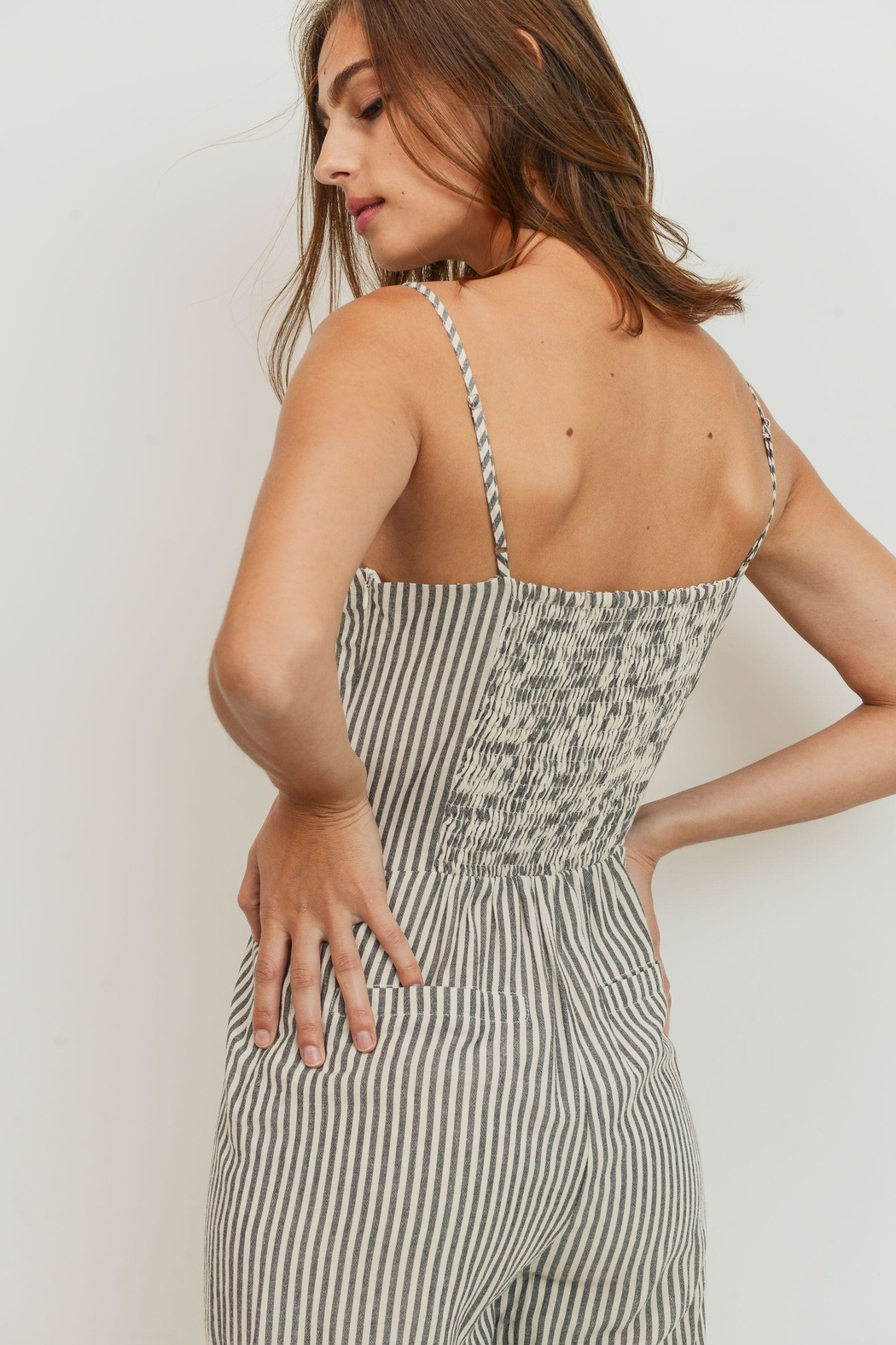 ShopGoldies Striped Jumpsuit - Side Cropped Image