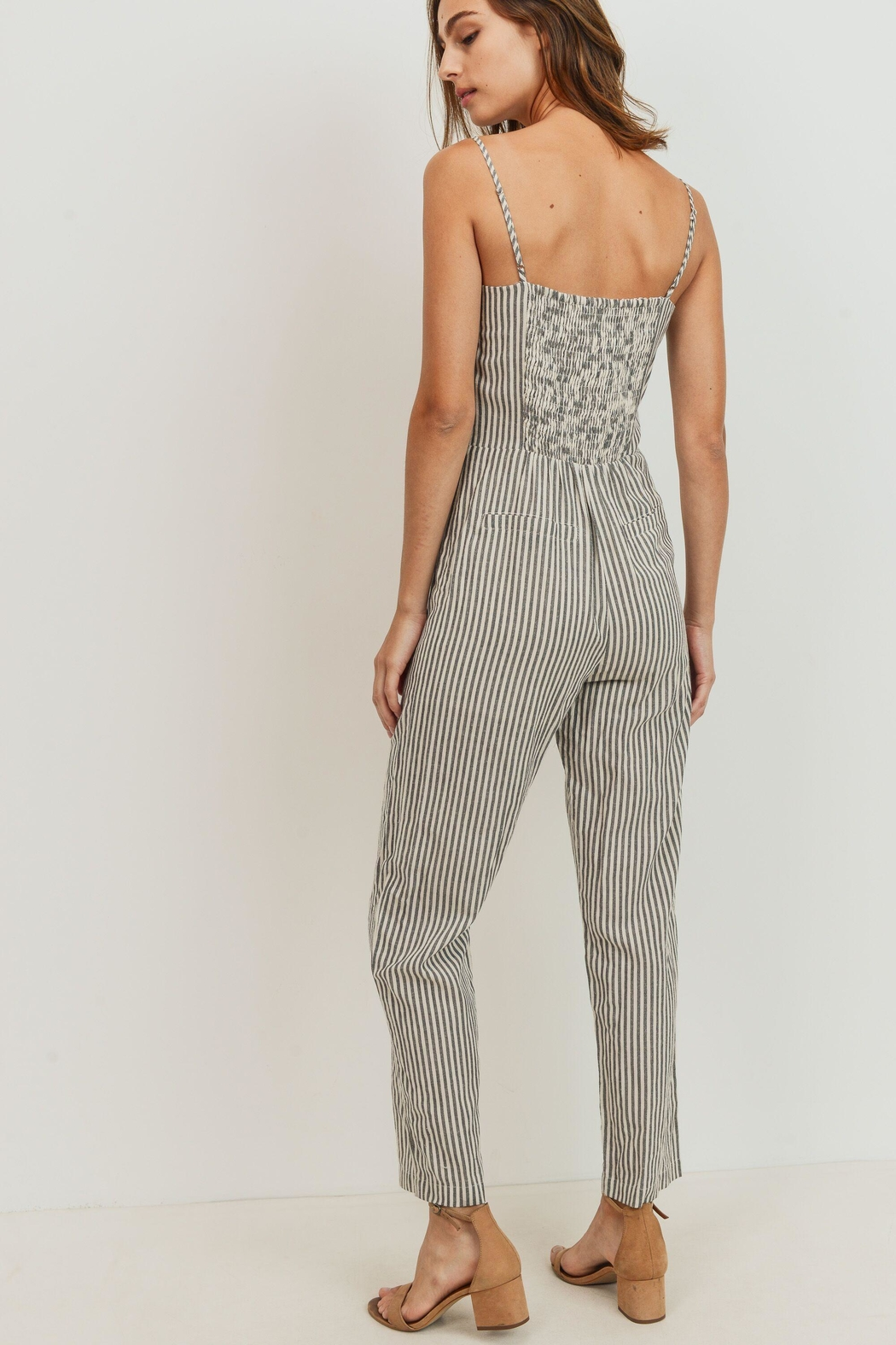 ShopGoldies Striped Jumpsuit - Front Full Image