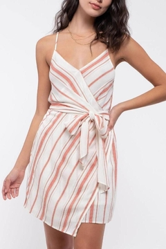 ShopGoldies Striped Tie-Waist Dress - Product List Image