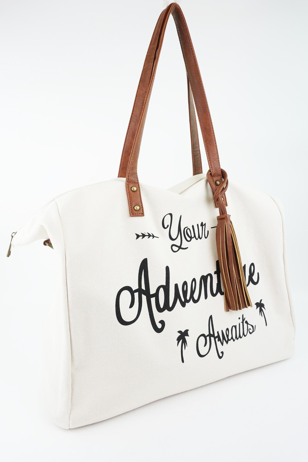 caba0df4777 ShopGoldies Your-Adventure-Awaits Canvas Tote-Bag - Front Cropped Image