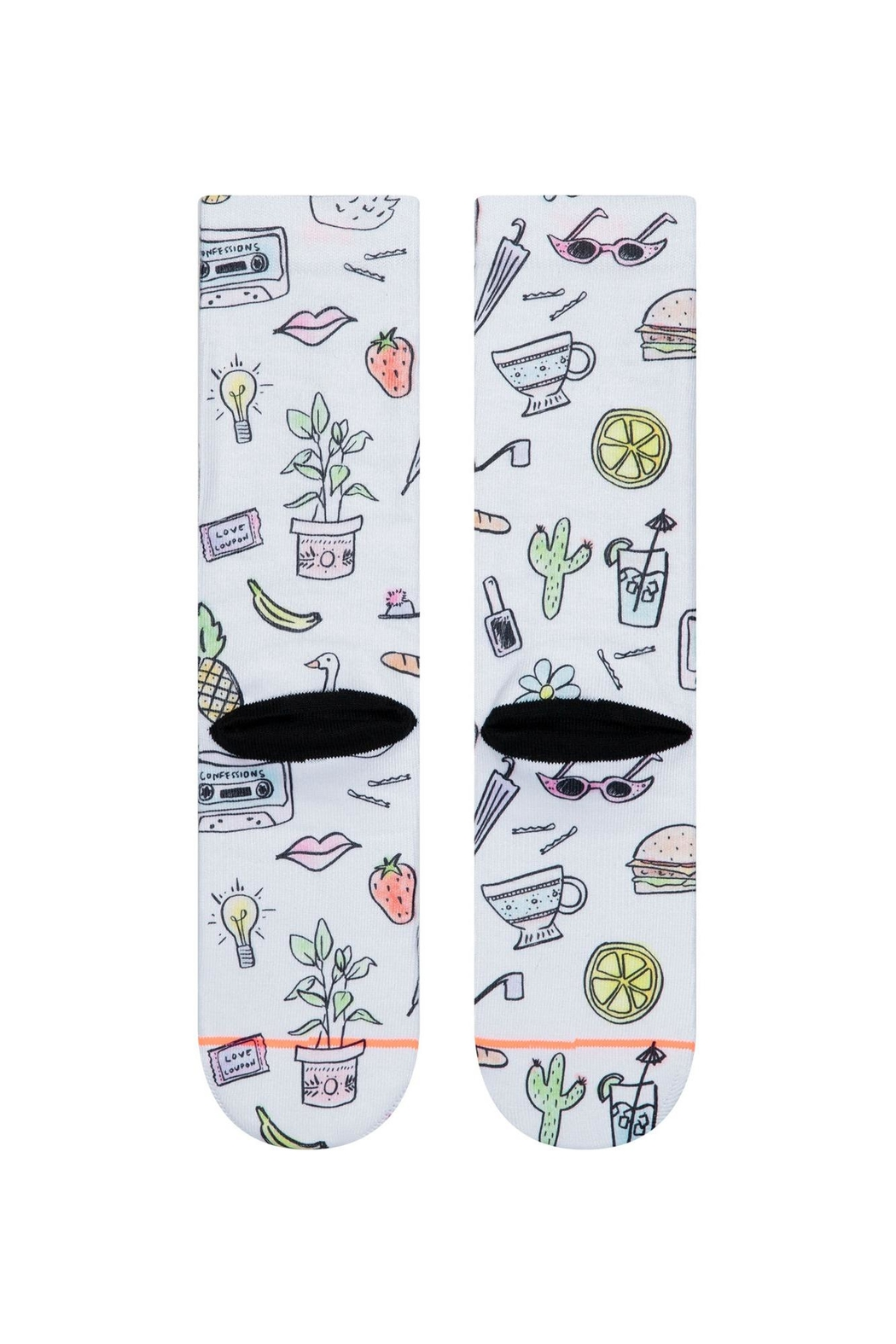 Stance Shopping List Socks - Side Cropped Image