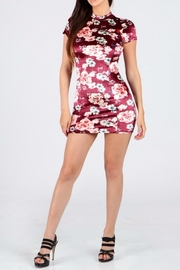 ShopWTD Velvet Bodycon Dress - Product Mini Image