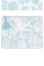Two's Company Shore Embroidered Pouch - Front cropped