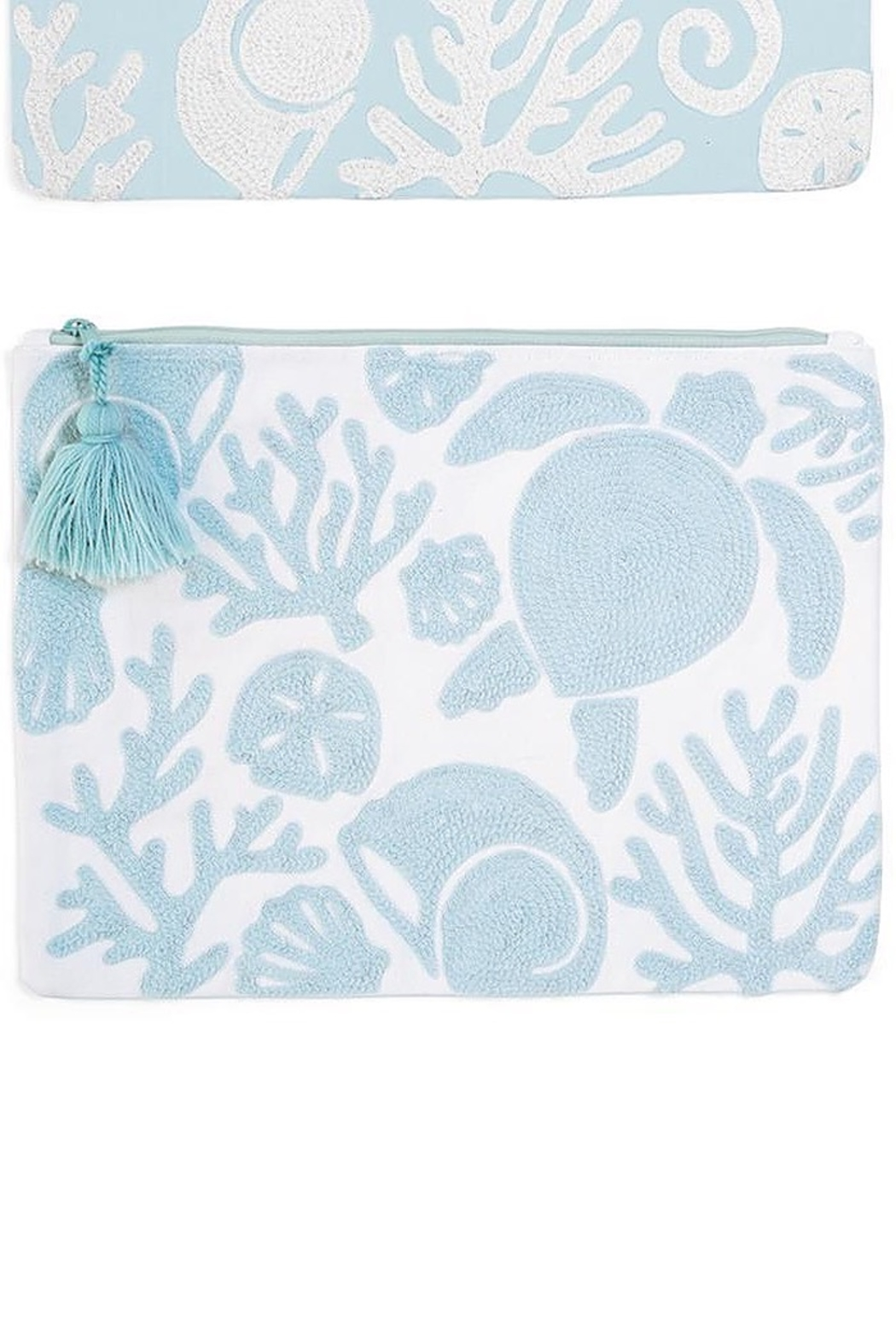 Two's Company Shore Embroidered Pouch - Main Image