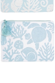Two's Company Shore Embroidered Pouch - Product Mini Image