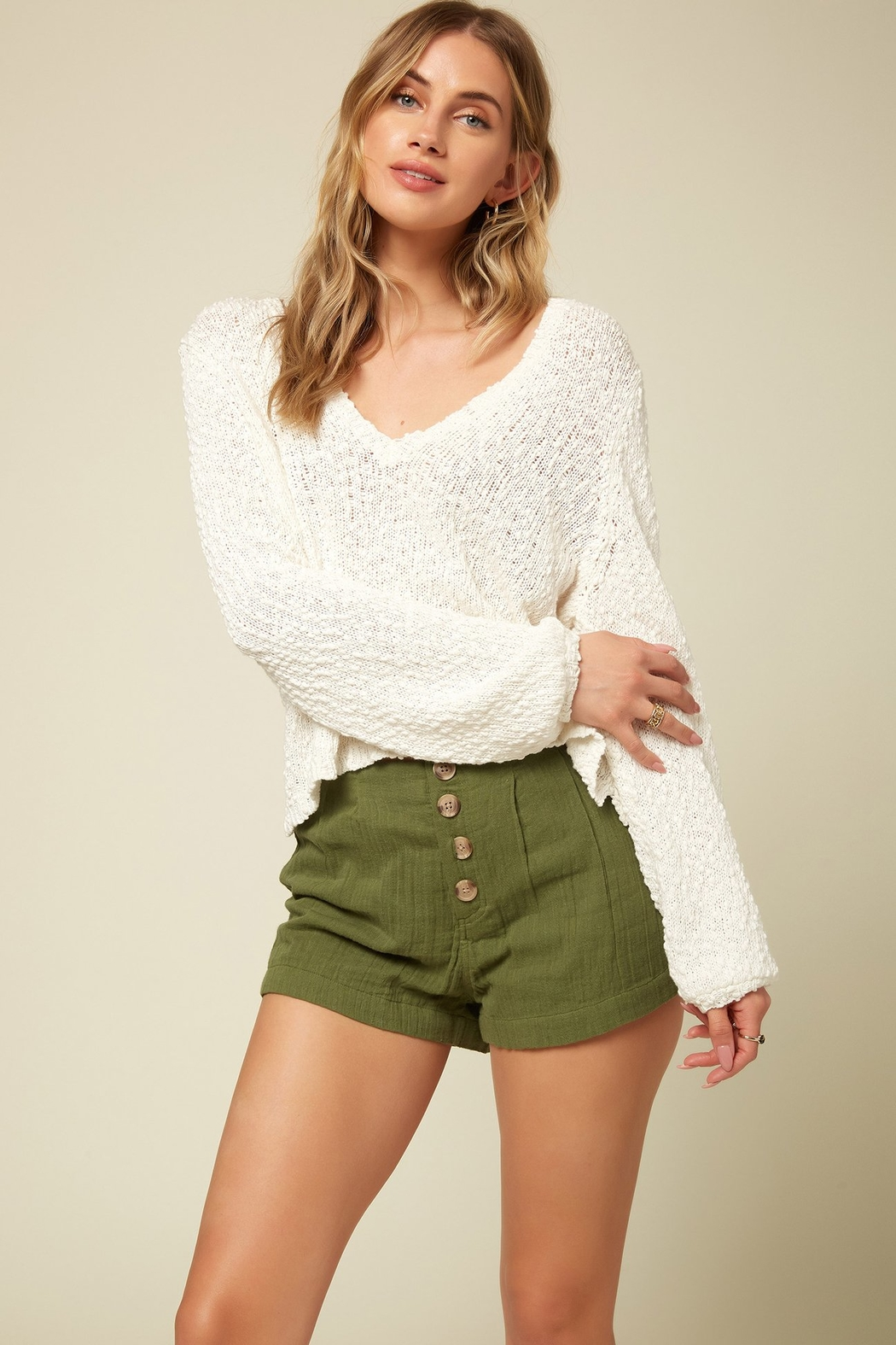 O'Neill Shores Solid Sweater - Back Cropped Image