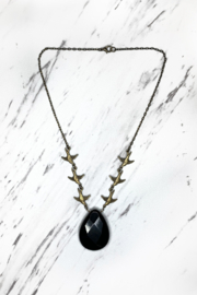 Mara Made Short Brass w Large Stone - Front cropped