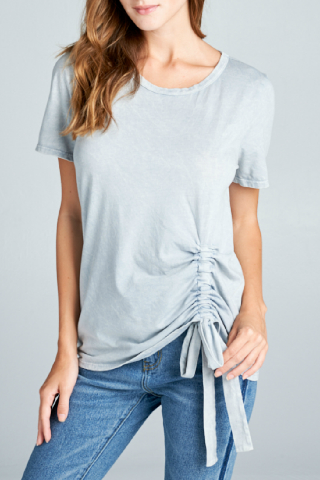 Sinuous Short crew neck with side detail - Main Image