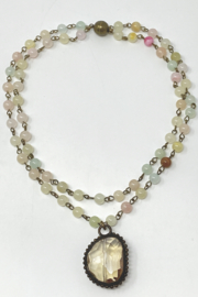 Melania Clara  Short double layered beaded necklace - Product Mini Image