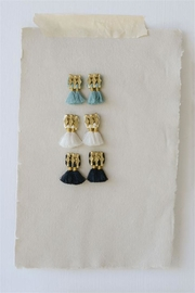 Creative Co-Op Short Fringe Earrings - Product Mini Image