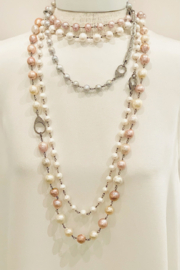 The Woods Fine Jewelry  Short Grey Pearl Necklace - Product Mini Image