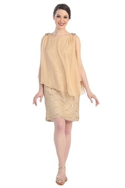 Cindy Collection Short Lace Dress - Product Mini Image