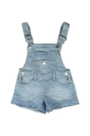 Mayoral Short Lacy Overalls - Front cropped