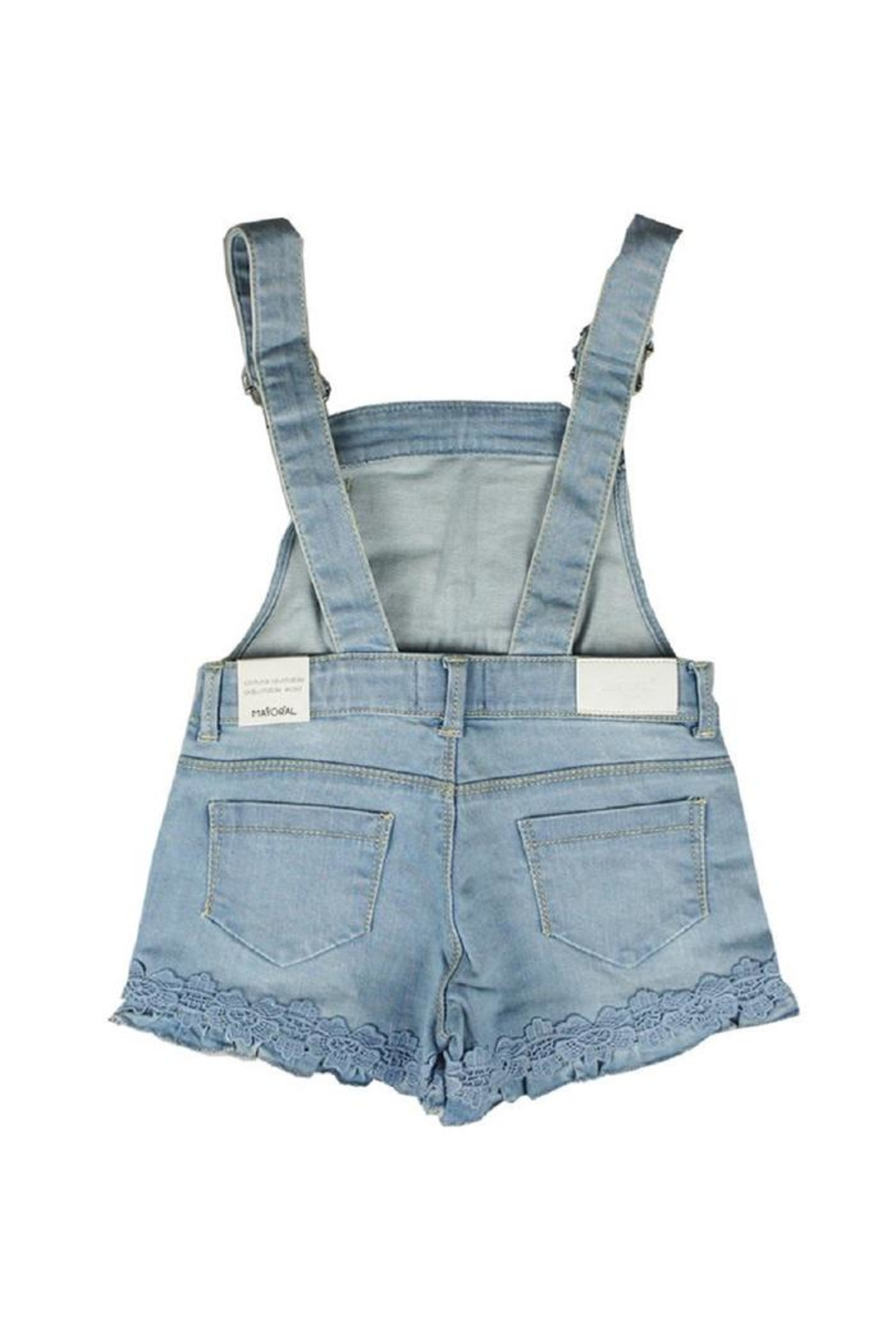 Mayoral Short Lacy Overalls - Side Cropped Image