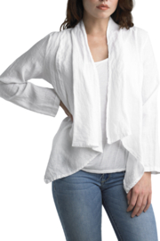 Tempo Paris Short Linen Jacket - Product Mini Image