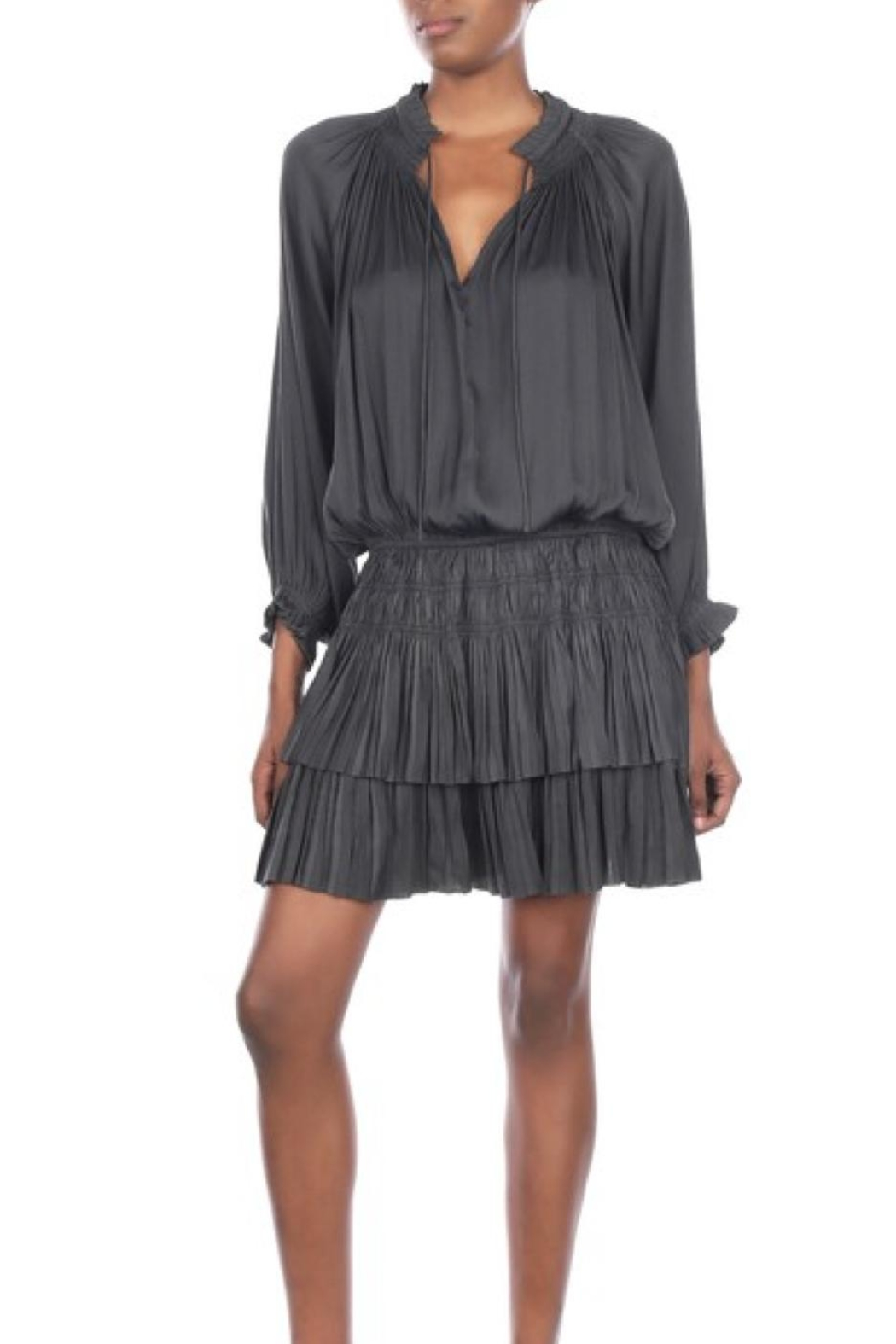 Current Air Short Pleated Dress - Front Full Image