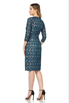 Kay Unger Short Print Dress with sleeves - Alternate List Image
