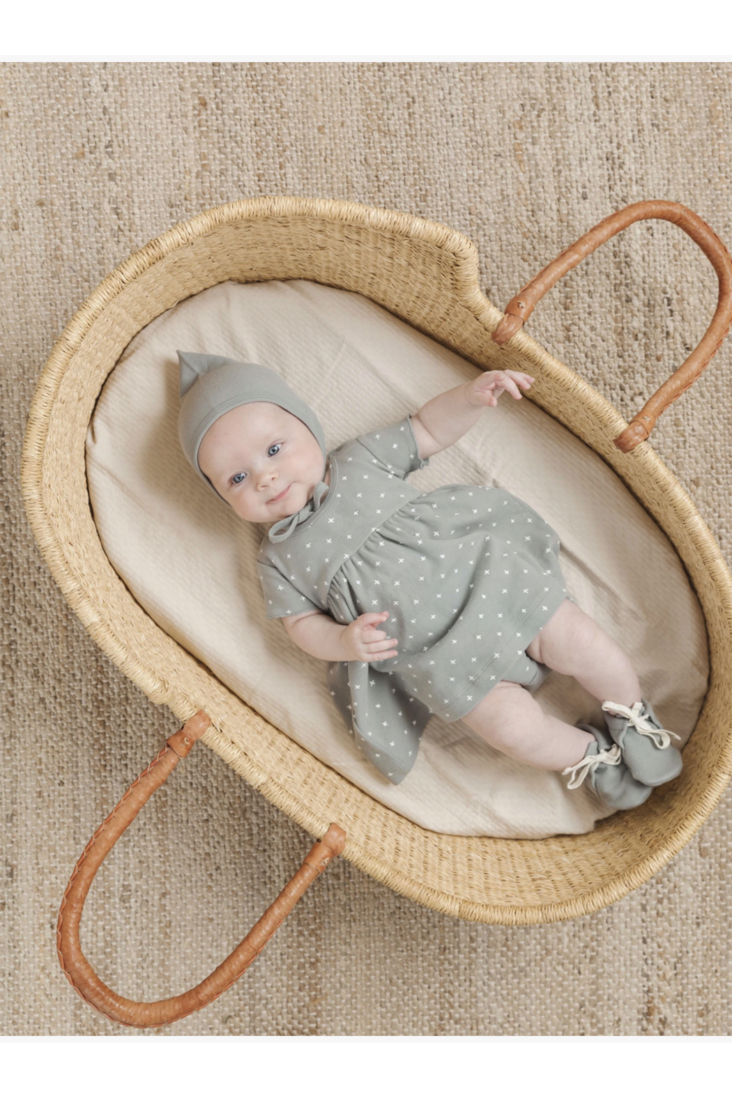 Quincy Mae Short Sleeve Baby Dress - Front Full Image