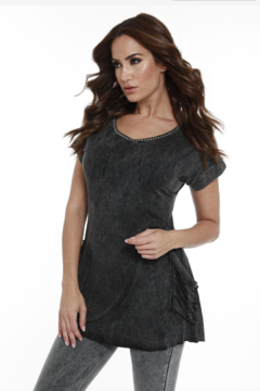 Angel Apparel Short Sleeve Beaded Tunic - Product List Image