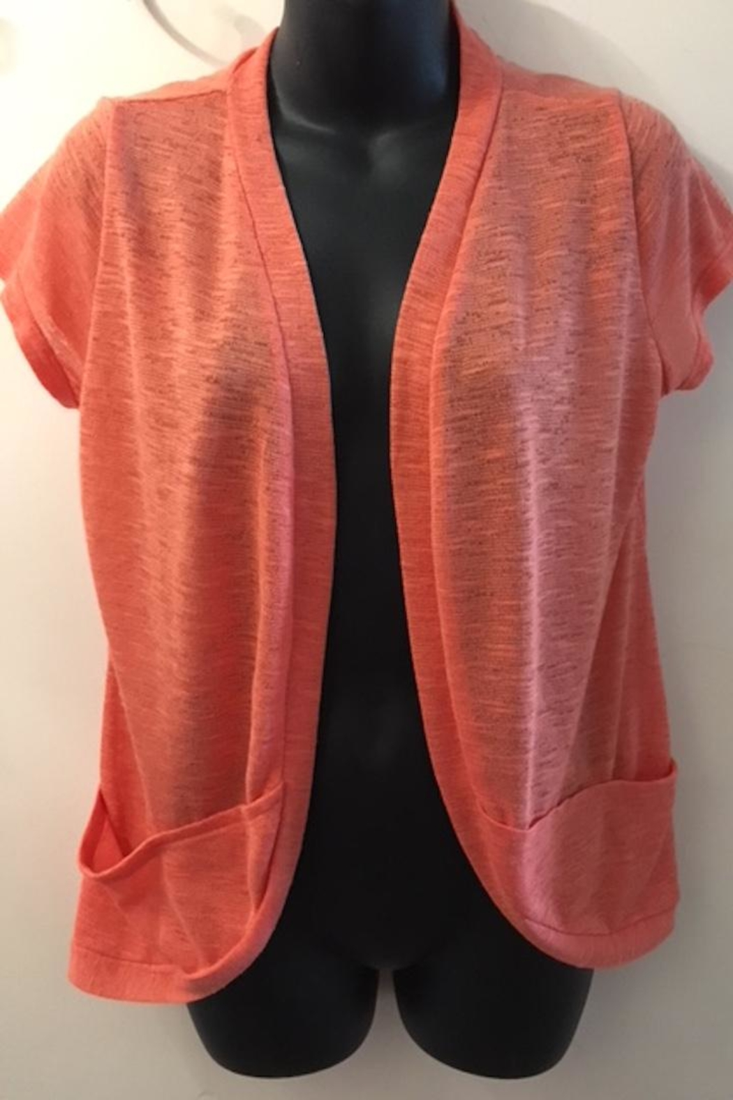 Miko Short Sleeve Cardigan - Front Cropped Image
