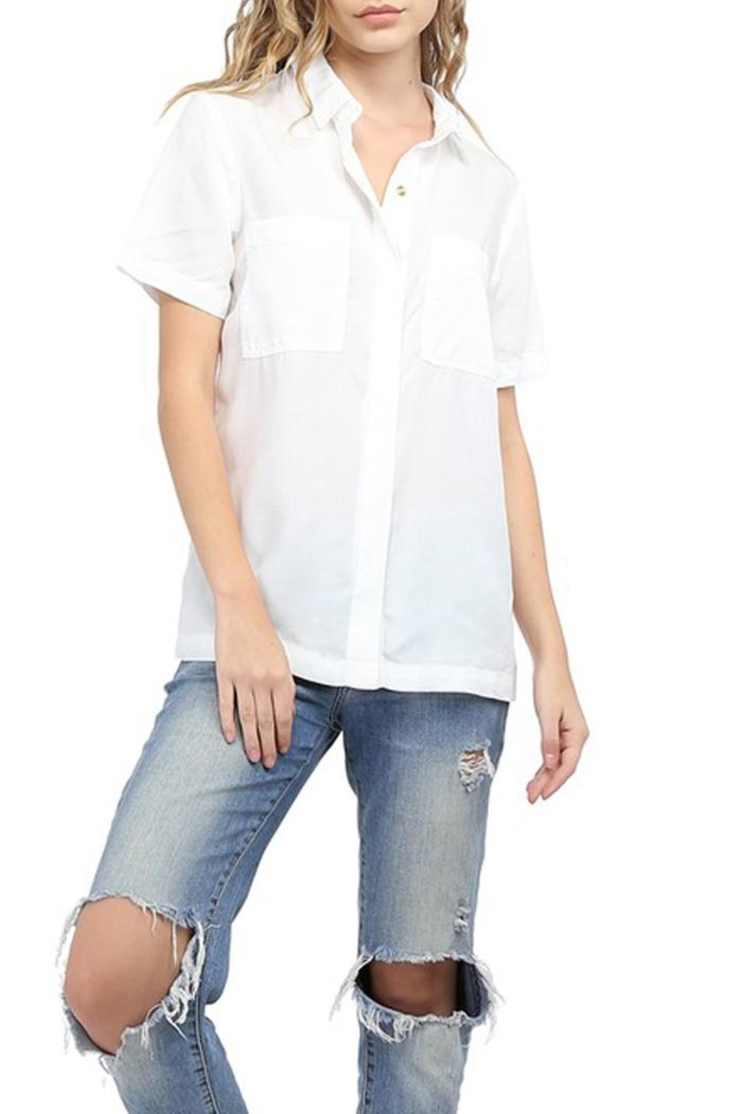 Glam Short-Sleeve Classic Shirt - Front Cropped Image