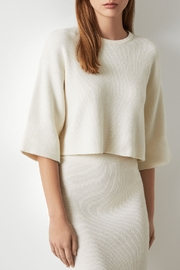 BCBG MAXAZRIA Short Sleeve Cropped Sweater - Front cropped