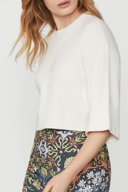 BCBG MAXAZRIA Short Sleeve Cropped Sweater - Side cropped