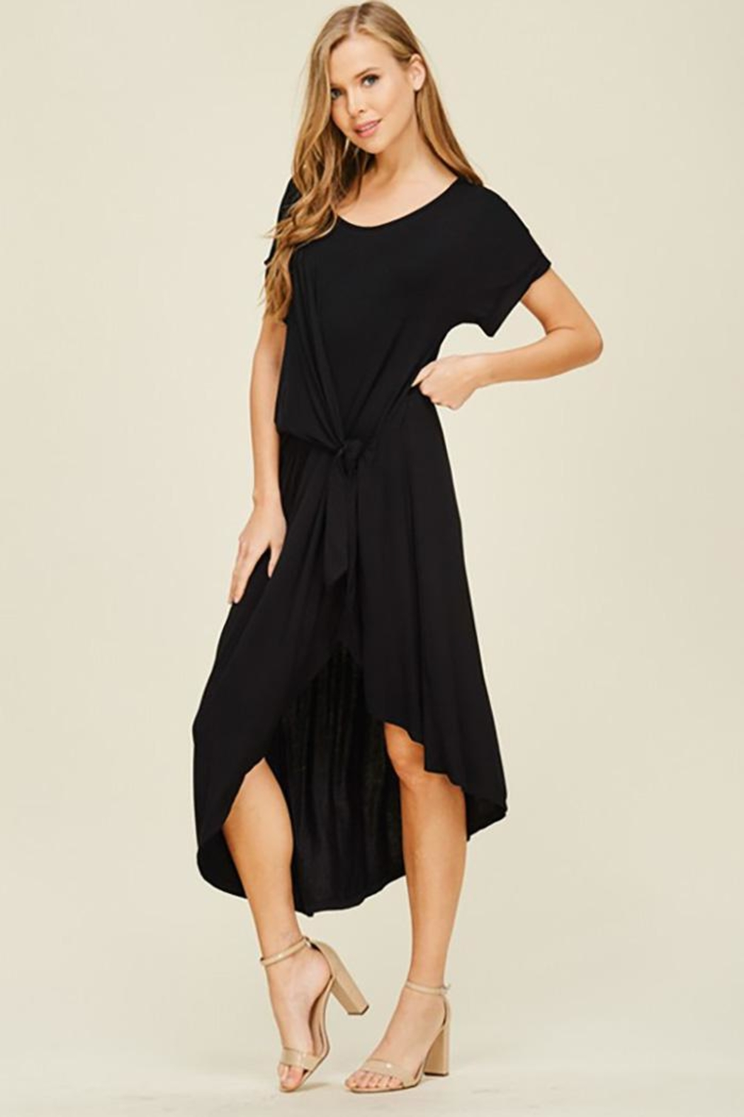 annabelle Short Sleeve Dress - Back Cropped Image