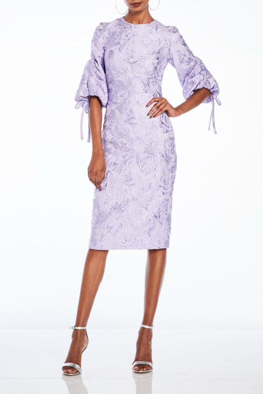 Theia Short Sleeve Dress - Main Image