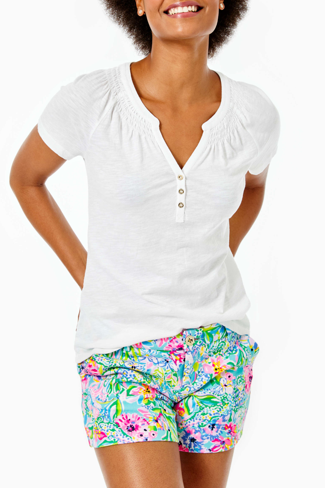 Lilly Pulitzer  Short Sleeve Essie Top - Main Image